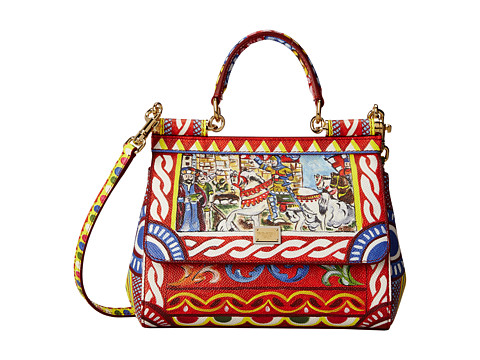 Dolce & Gabbana - Graphic Print Mini Satchel (Multi) Satchel Handbags