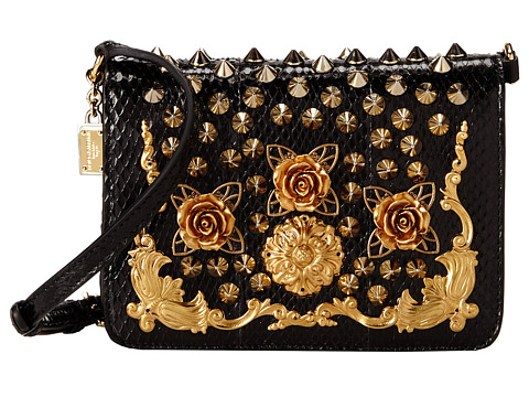Dolce & Gabbana - Studded Crossbody (Nero/Multi) Cross Body Handbags