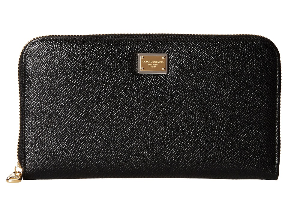 Dolce & Gabbana - Zip Around Wallet (Nero) Wallet Handbags