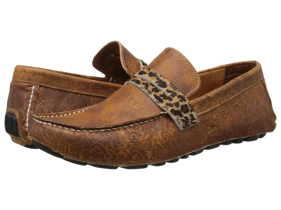 Massimo Matteo - Cheetah Driver (Caramelo) Men's Flat Shoes