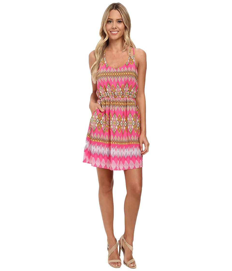 Gabriella Rocha - Brooke Print Dress (Fuchsia) Women's Dress
