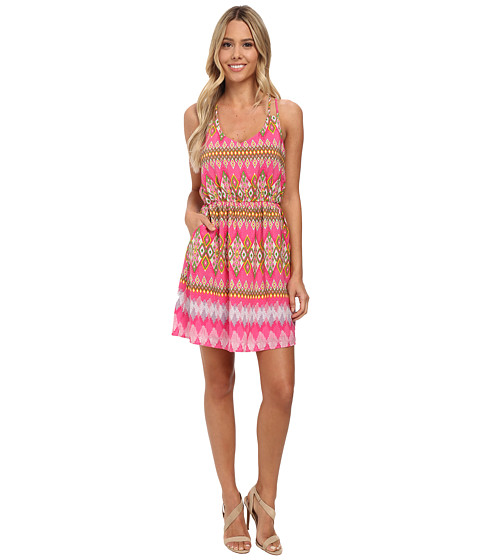 Gabriella Rocha - Brooke Print Dress (Fuchsia) Women's Dress