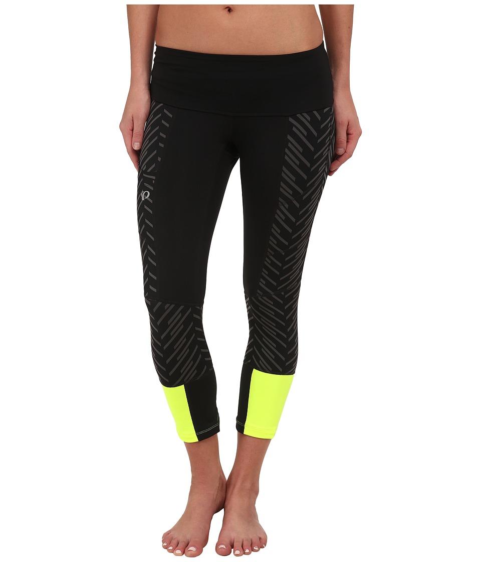 Pearl Izumi - Flash 3 Qtr Run Tights (Black/Black Print) Women's Workout