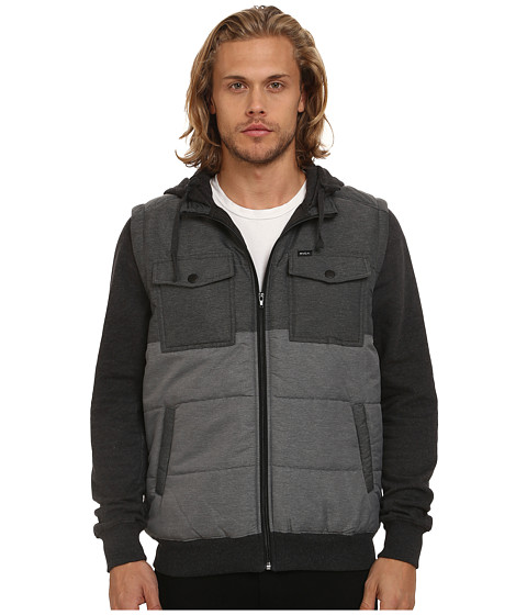 RVCA - Puffer Wayward Jacket (Black) Men's Coat