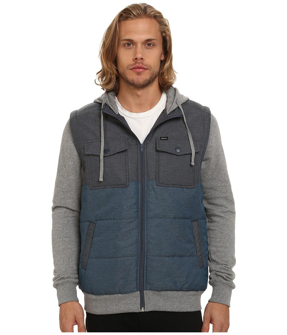 RVCA - Puffer Wayward Jacket (Midnight) Men's Coat