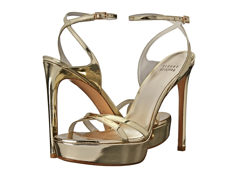 Stuart Weitzman Bridal & Evening Collection Bebare (Pale Gold Specchio) High Heels