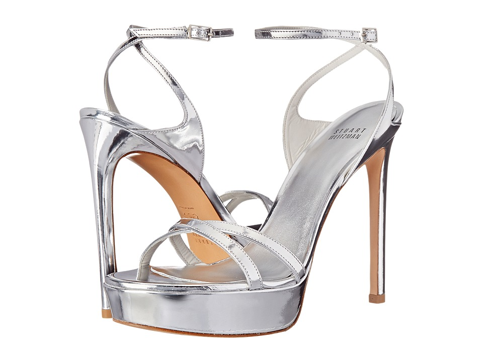 Stuart Weitzman Bridal & Evening Collection - Bebare (Silver Specchio) High Heels