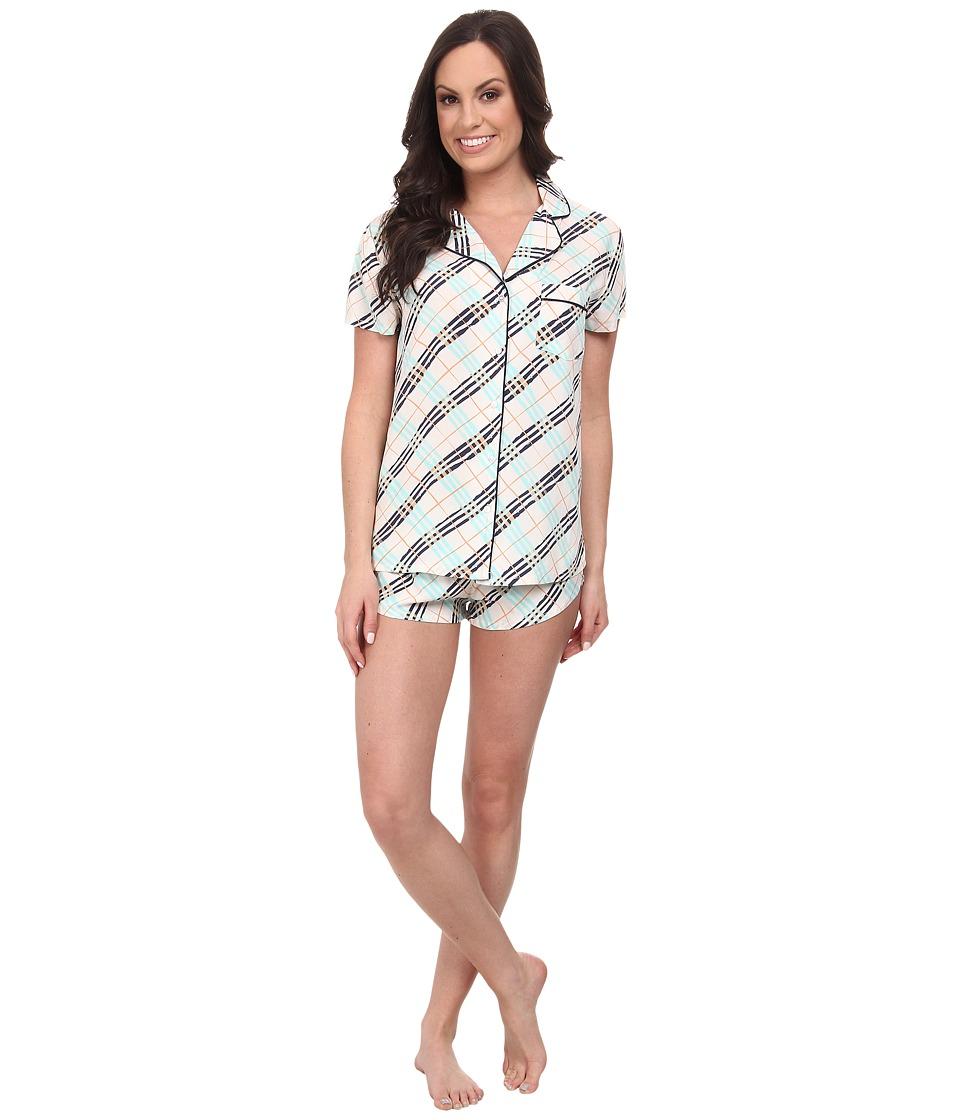 Splendid - Woven Classic PJ Set (Summer Plaid) Women's Pajama Sets