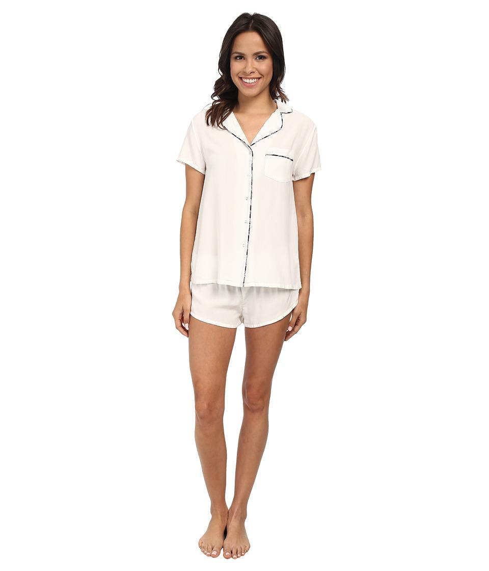 Splendid - Woven Classic PJ Set (Gardenia) Women's Pajama Sets