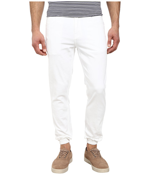 Publish - Parkin Brushed Twill Five-Pocket Jogger Pants with Stone Wash (White) Men