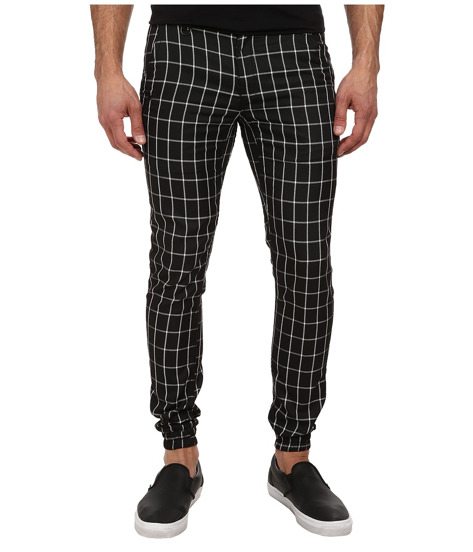 Publish - Rylan Window Pane Plaid Jogger (Black) Men