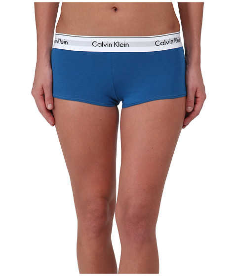 Calvin Klein Underwear - Modern Cotton Boyshort (Blue River) Women's Underwear