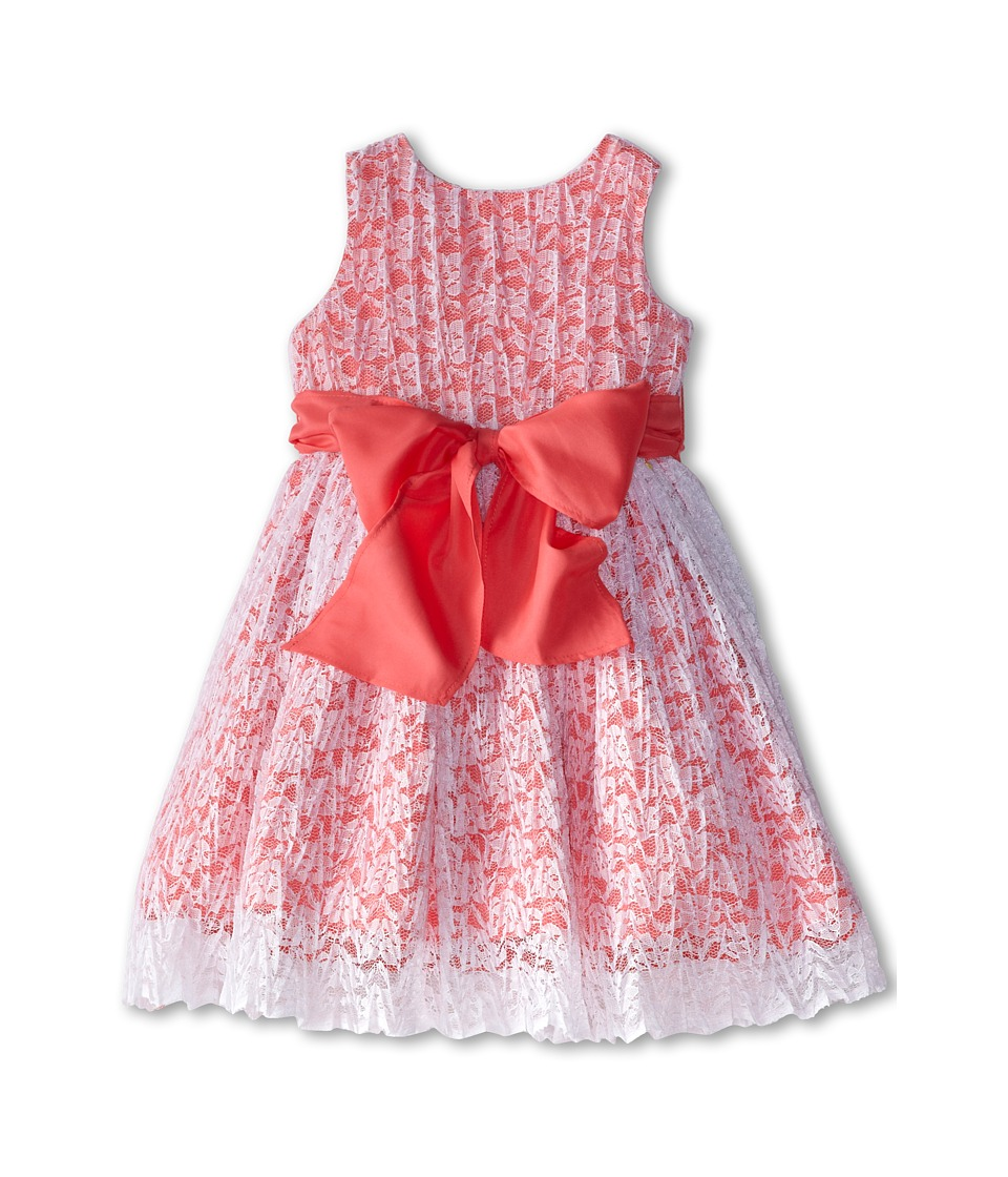 Us Angels - Sleeveless Tank Dress w/ Tie Back (Toddler) (Coral) Girl