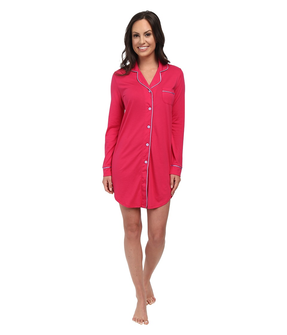 Cosabella - Bella L/S Nightshirt (Garnet/Issues) Women's Pajama