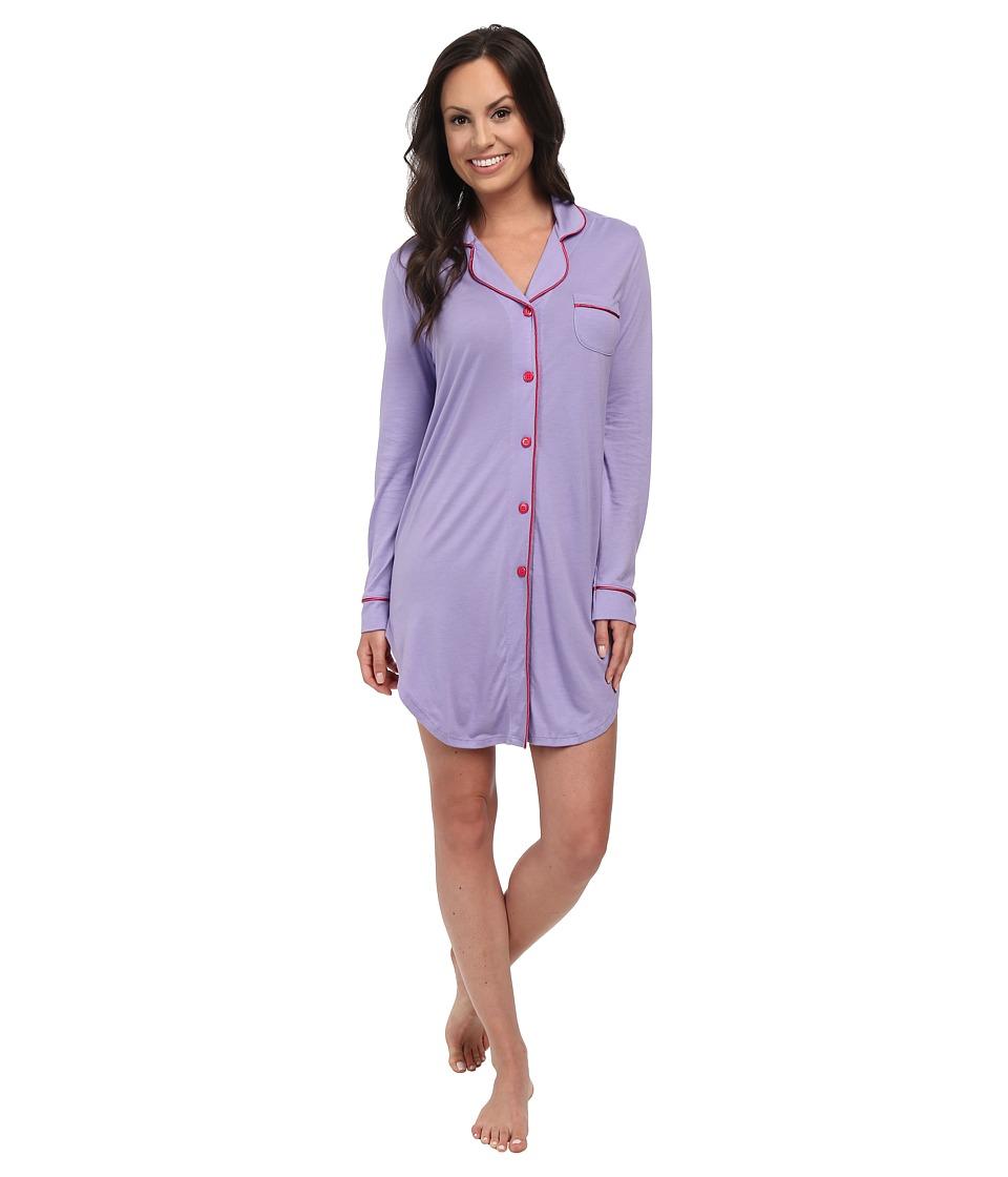 Cosabella - Bella L/S Nightshirt (Issus/Garnet) Women's Pajama