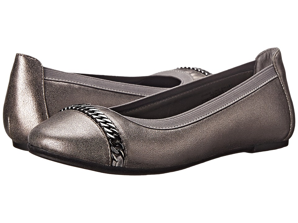 Elie Tahari Kids - Chain Link Ballet (Little Kid/Big Kid) (Pewter) Girl