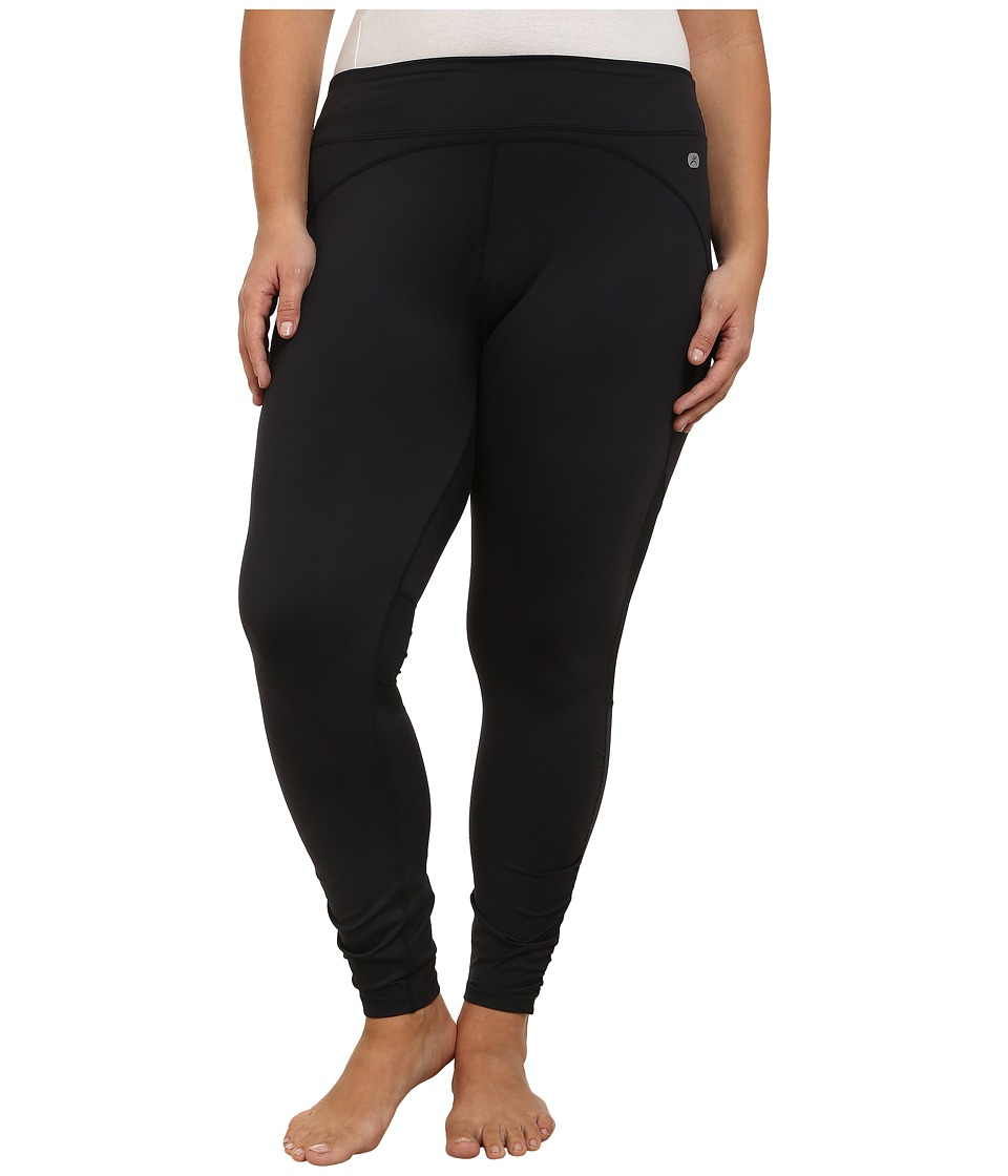 Terramar - Plus Size Full Length Leggings W8848W (Black) Women's Casual Pants