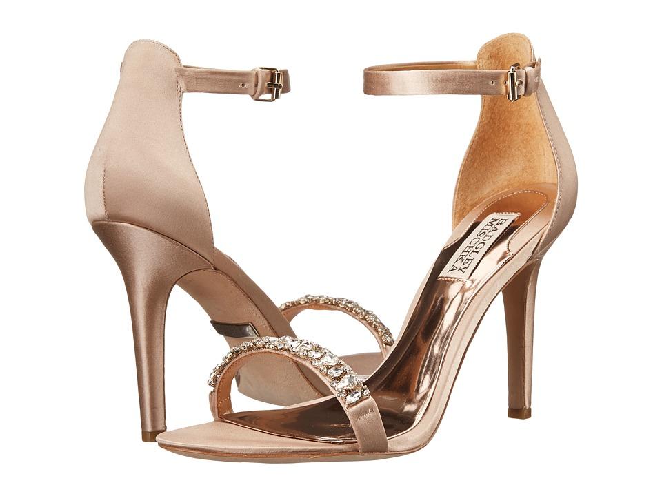 Badgley Mischka - Elope (Latte Satin) High Heels