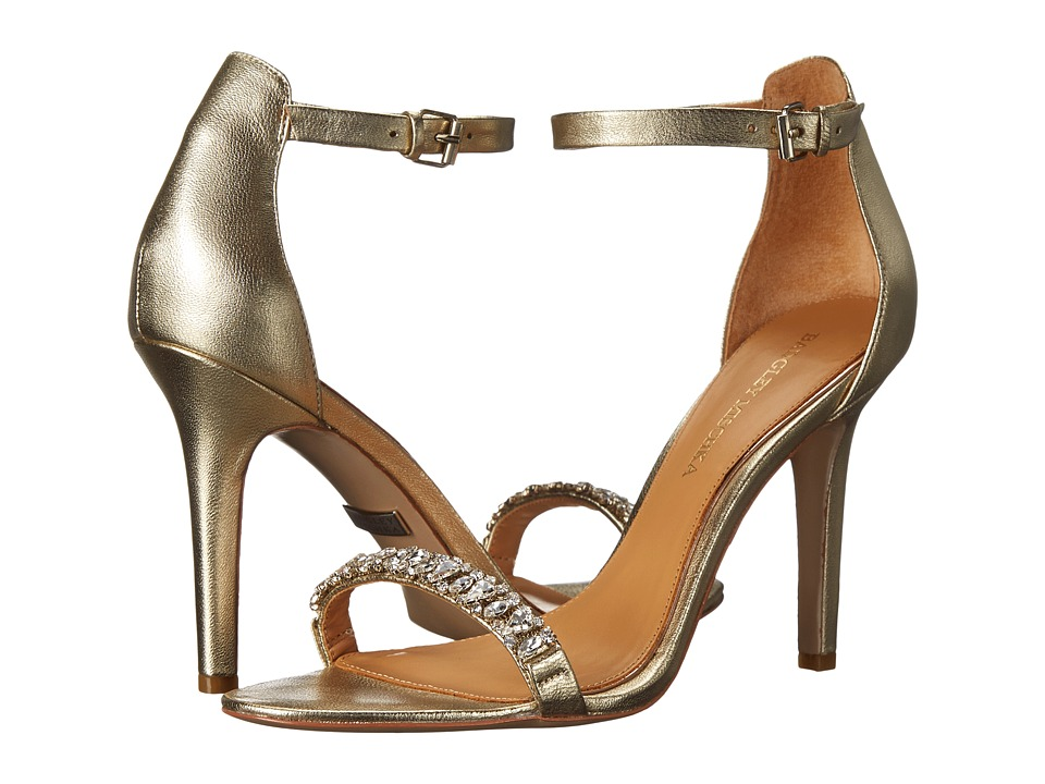 Badgley Mischka - Elope (Platino Metallic Leather) High Heels
