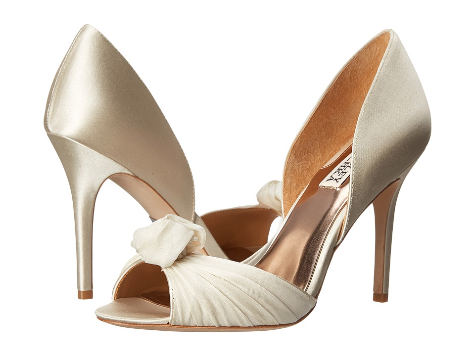 Badgley Mischka - Musica (Ivory Satin) High Heels