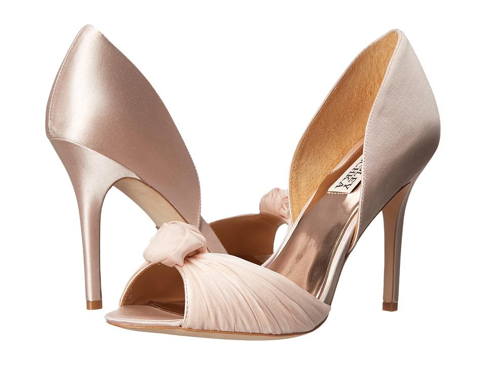 Badgley Mischka Musica (Light Pink Satin) High Heels