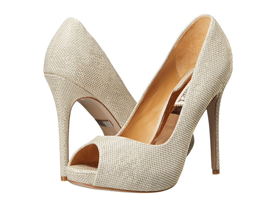 Badgley Mischka - Kassidy II (Light Gold Metallic Fabric) High Heels