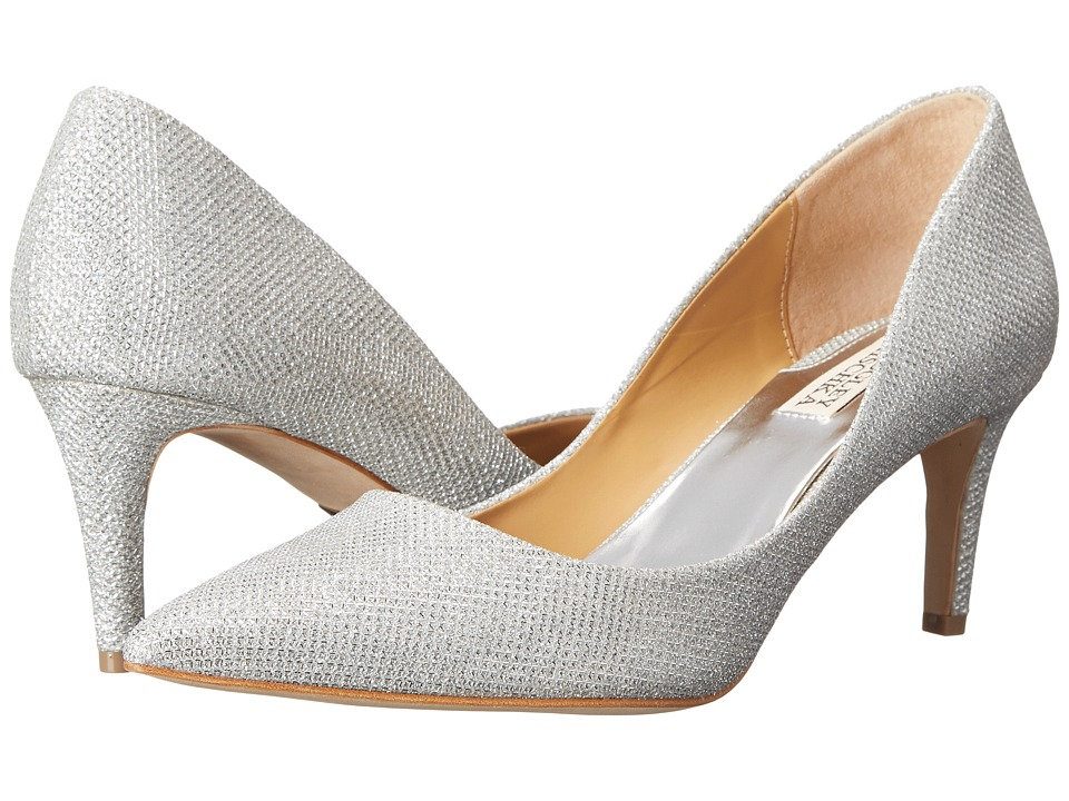 Badgley Mischka - Poise (Silver Diamond Drill Fabric) High Heels