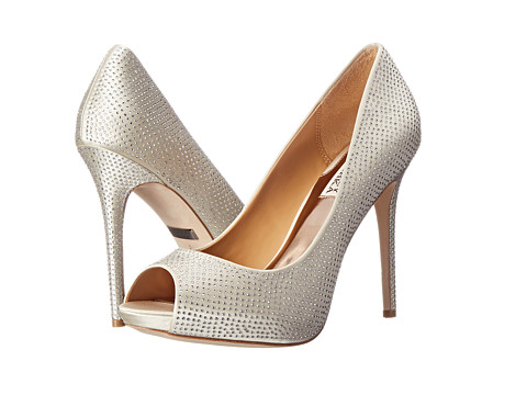 Badgley Mischka - Polite (Ivory Satin) High Heels
