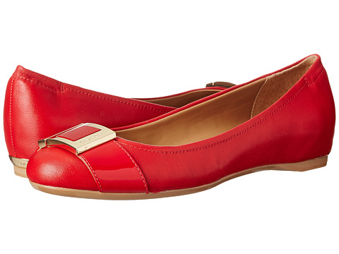 Calvin Klein - Madeline (Lipstick Red Sheep Nappa/Patent) Women