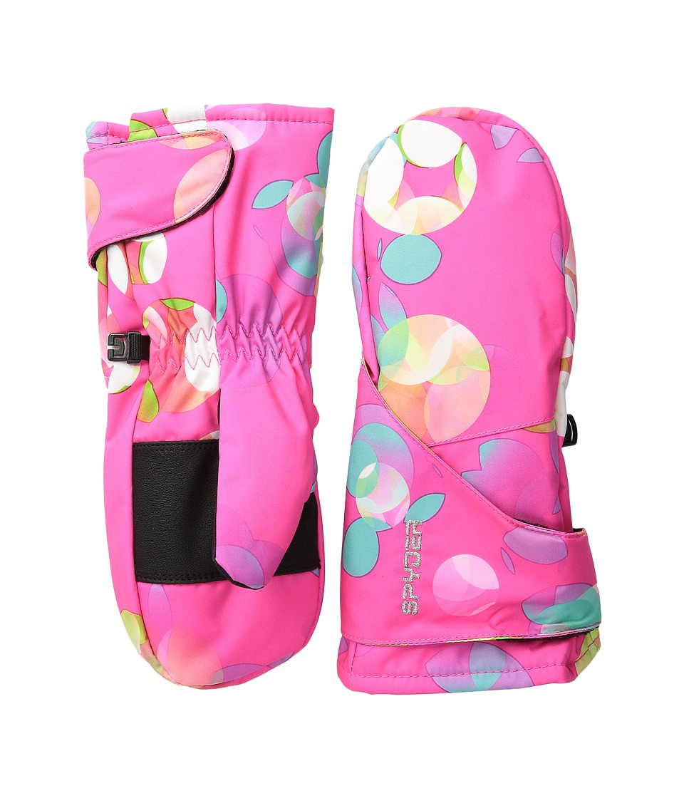 Spyder Kids - Bitsy Cubby Ski Mitten (Toddler/Little Kids/Big Kids) (Bryte Bubblegum Print) Ski Gloves