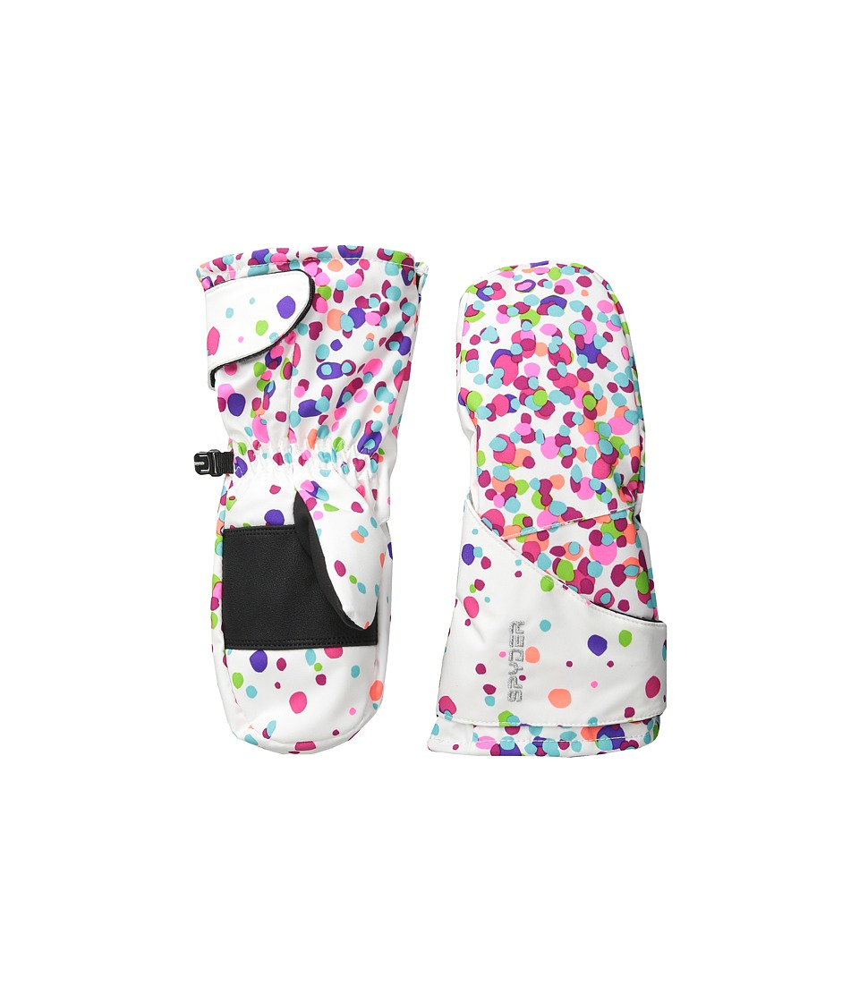 Spyder Kids - Bitsy Cubby Ski Mitten (Toddler/Little Kids/Big Kids) (White Confetti Print) Ski Gloves