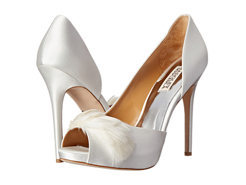 Badgley Mischka - Piper (White Satin) High Heels