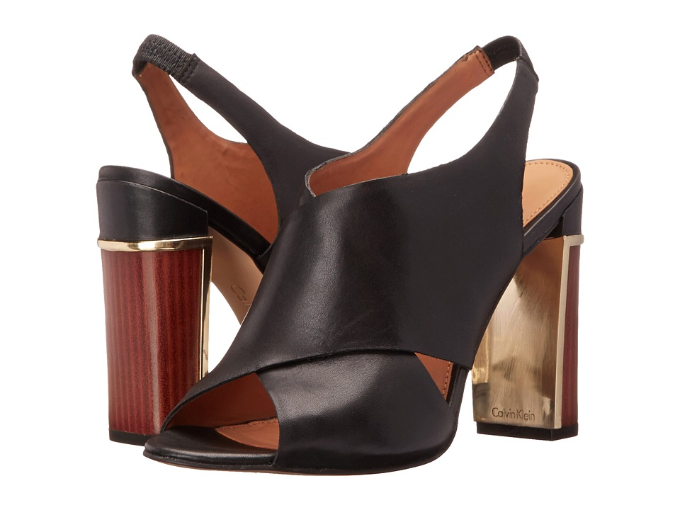 Calvin Klein - Karel (Black Cow Silk) Women's Shoes