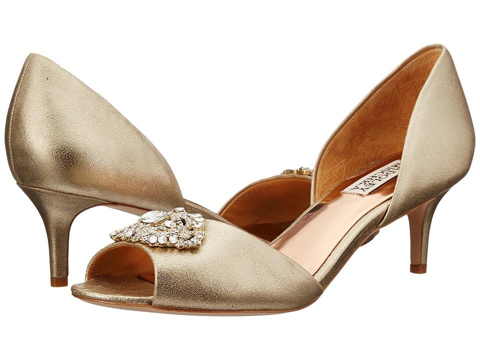 Badgley Mischka - Petrina II (Platino Metallic Suede) Women's 1-2 inch heel Shoes
