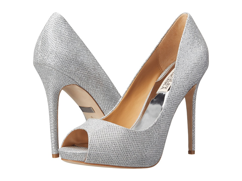 Badgley Mischka - Ponderosa (Silver Diamond Drill Fabric) High Heels