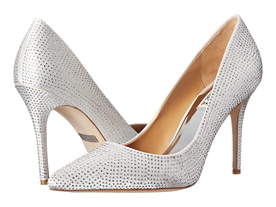 Badgley Mischka - Polo (White Satin) High Heels