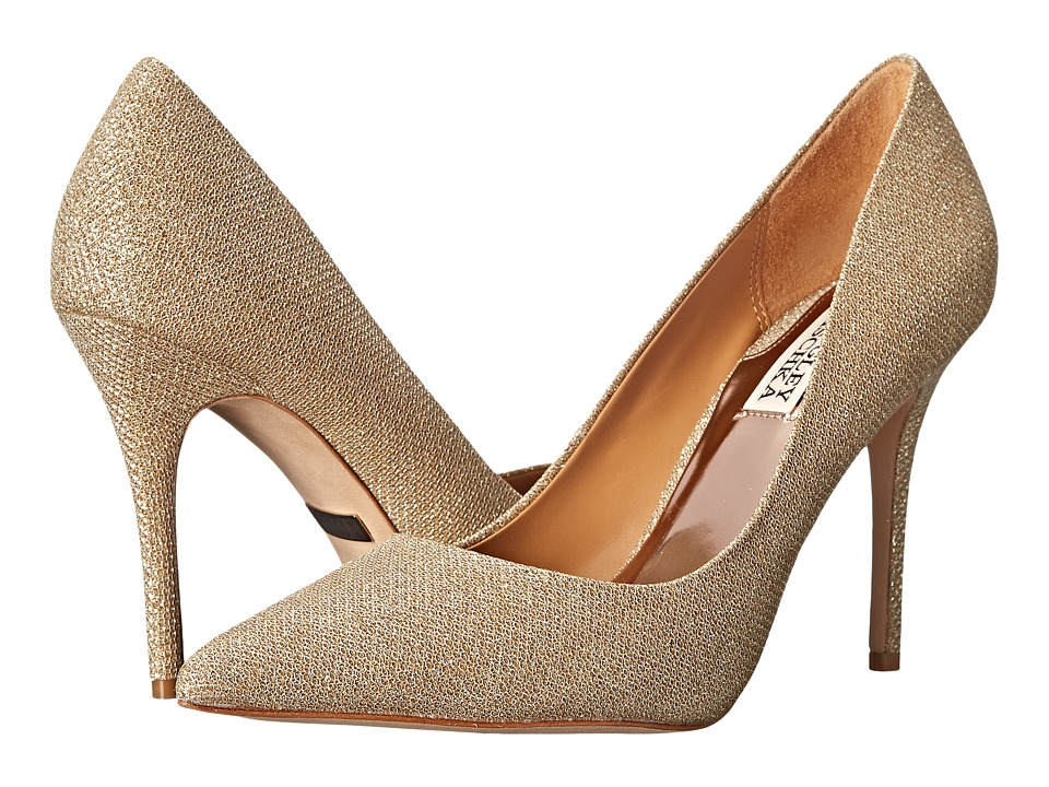 Badgley Mischka - Ponder (Platino Diamond Drill Fabric) High Heels