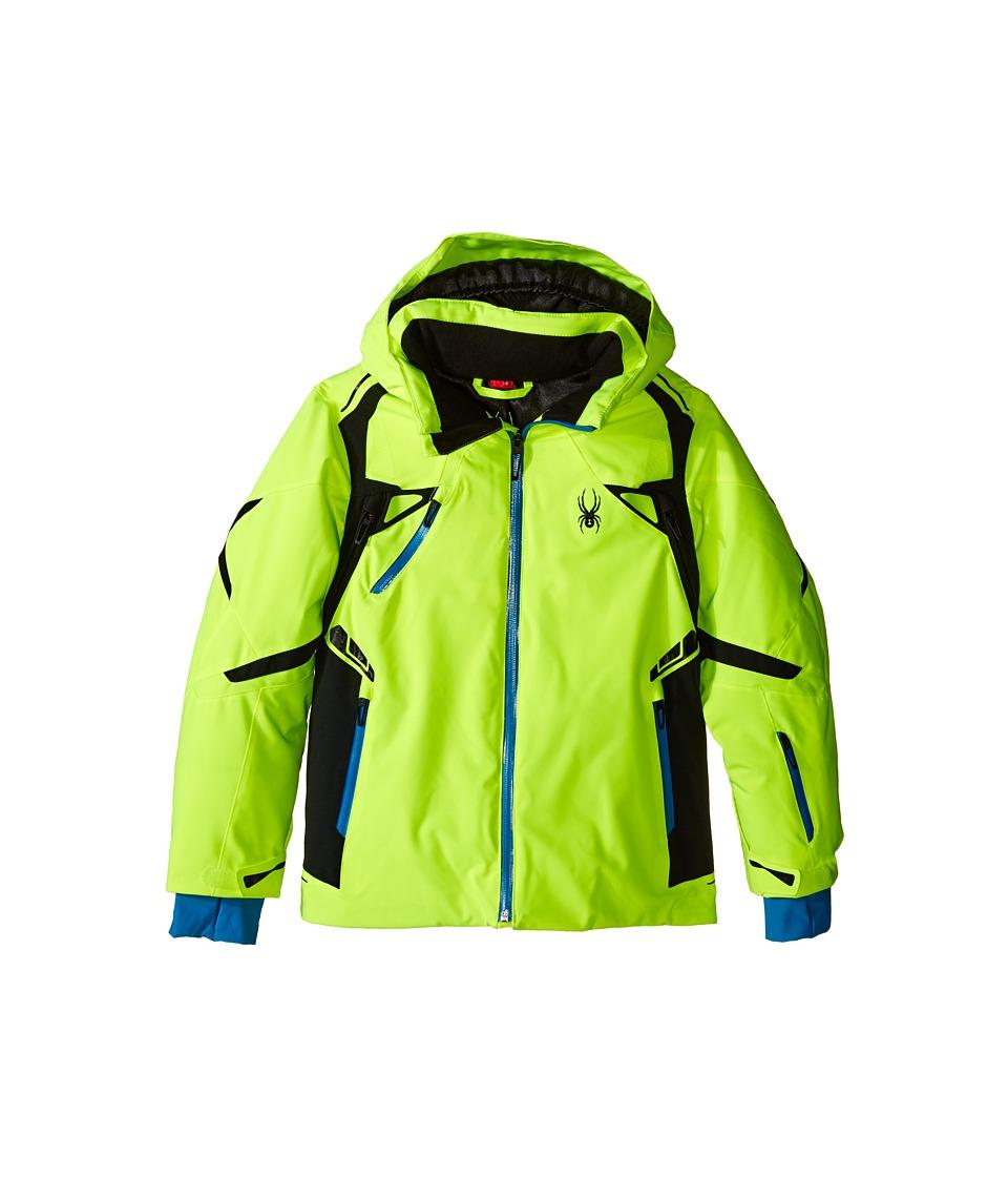 Spyder Kids - Vail Jacket (Big Kids) (Bryte Yellow/Black/Electric Blue) Boy's Coat