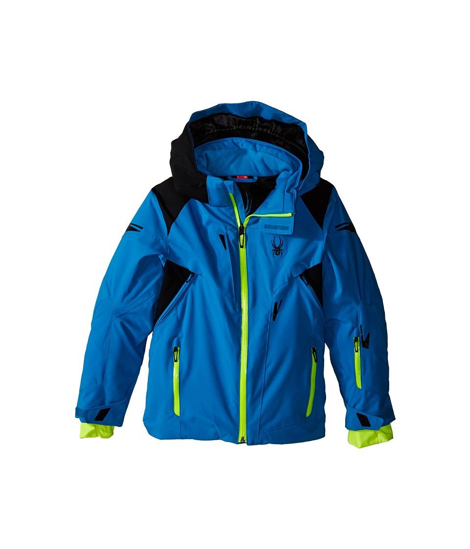 Spyder Kids - Speed Jacket (Big Kids) (Electric Blue/Black/Bryte Yellow) Boy's Coat