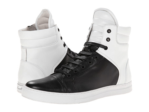 Kenneth Cole New York - Double Header (Black/White Combo) Men's Lace-up Boots