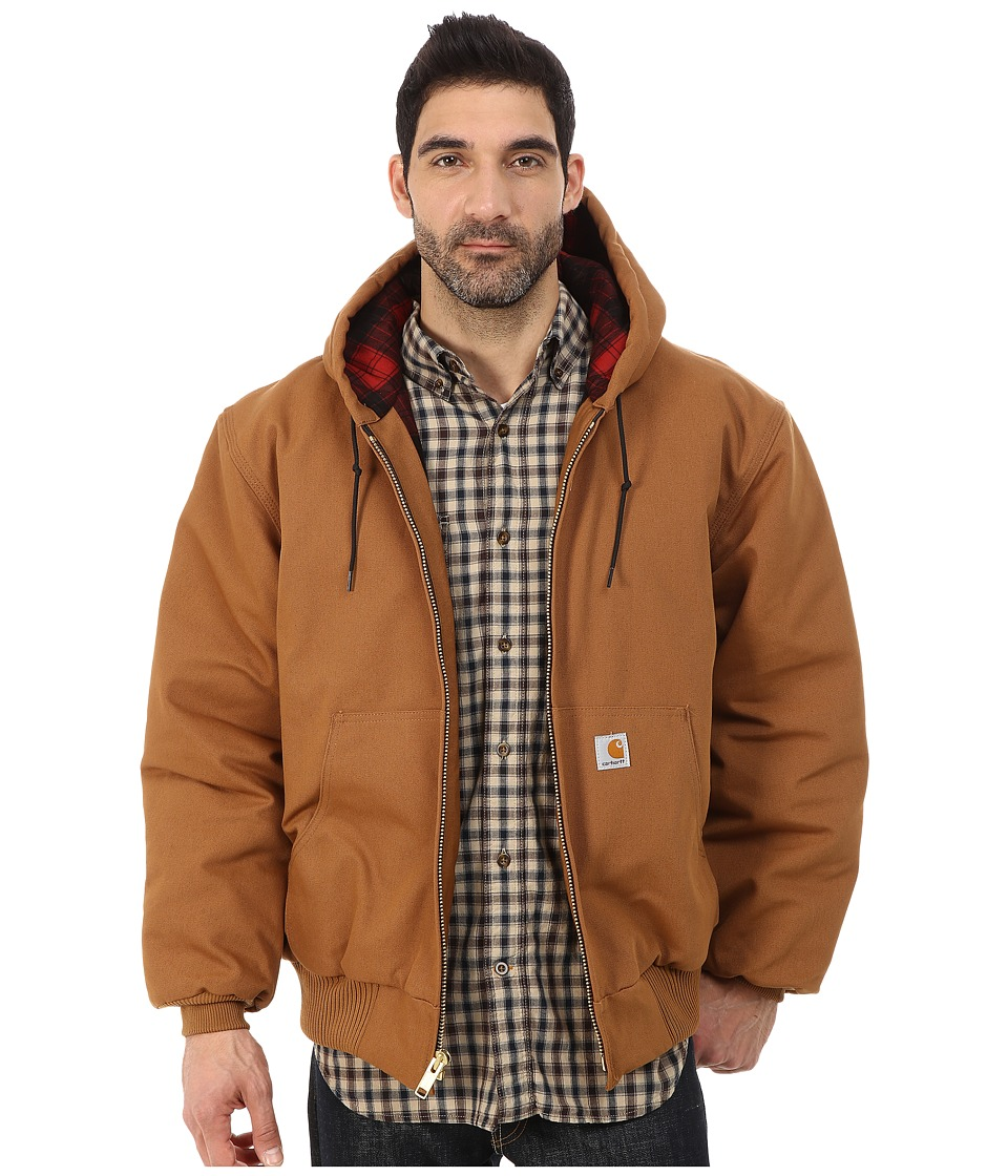 Carhartt - Camo Lined Duck Active Jacket (Carhartt Brown/Dark Brown) Men's Coat