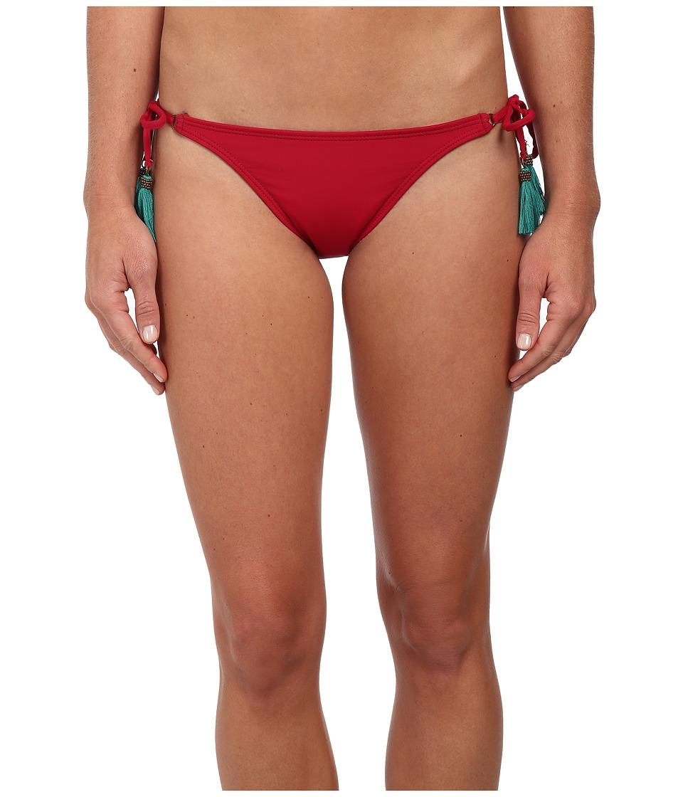 Vix - Sofia by Vix Solid Cherry Long Tie Bottom (Cherry) Women