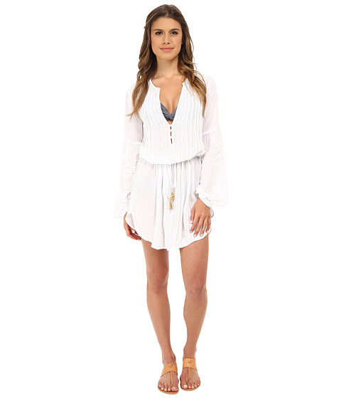Vix - Solid White Paris Tunic Cover-Up (White) Women's Swimwear