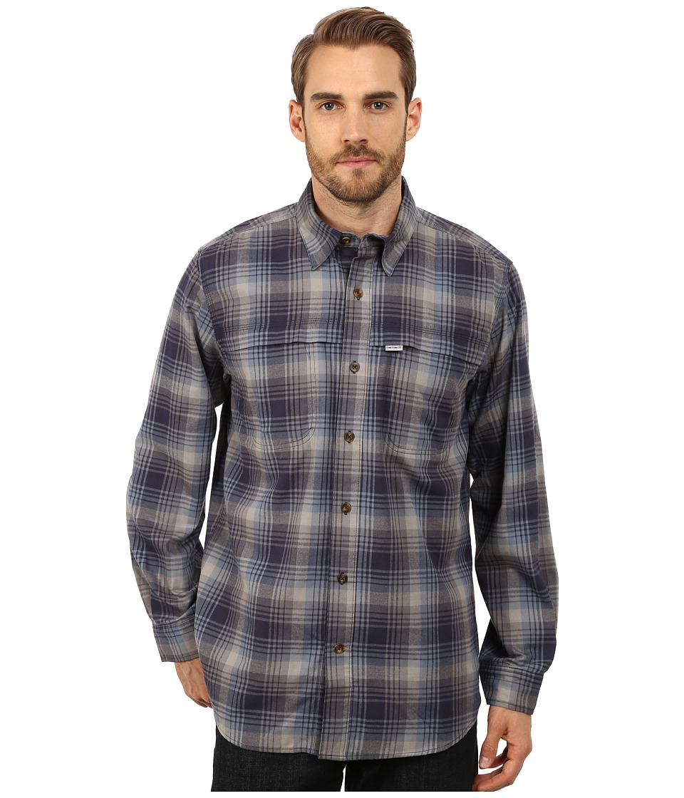 Carhartt - Force Reydell Long Sleeve Shirt (Steel Blue) Men's Clothing