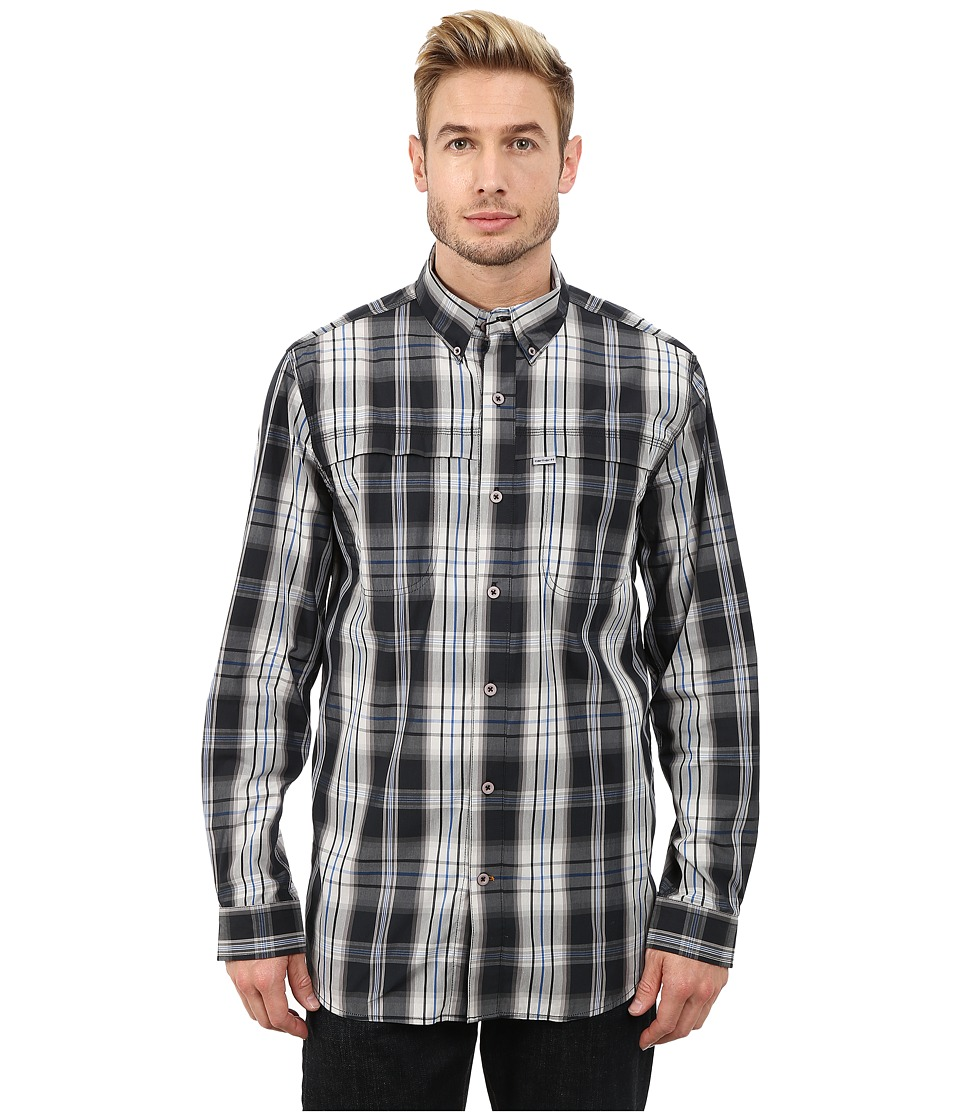 Carhartt - Force Mandan Plaid Long Sleeve Shirt (Black) Men's Long Sleeve Button Up