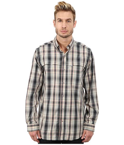 Carhartt - Force Mandan Plaid Long Sleeve Shirt (Asphalt) Men