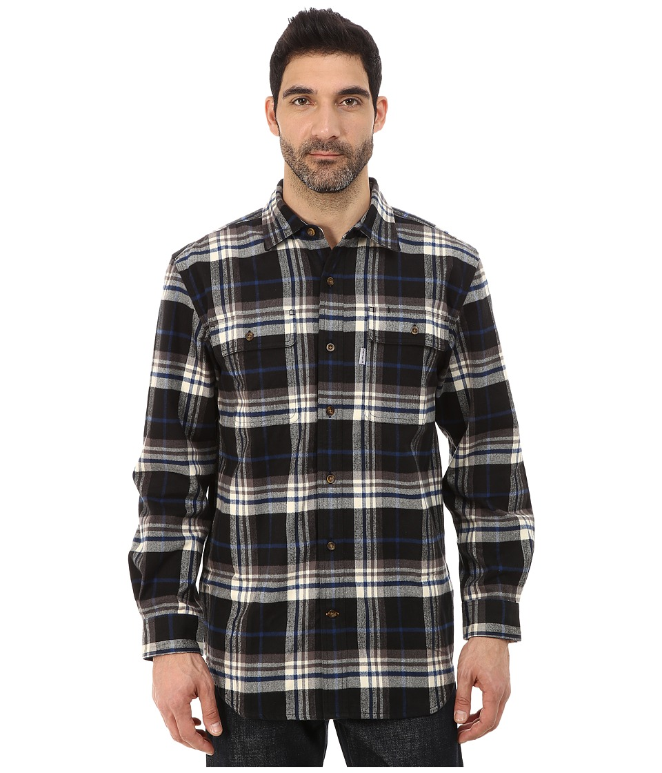 Carhartt - Hubbard Plaid Shirt (Black) Men's Long Sleeve Button Up