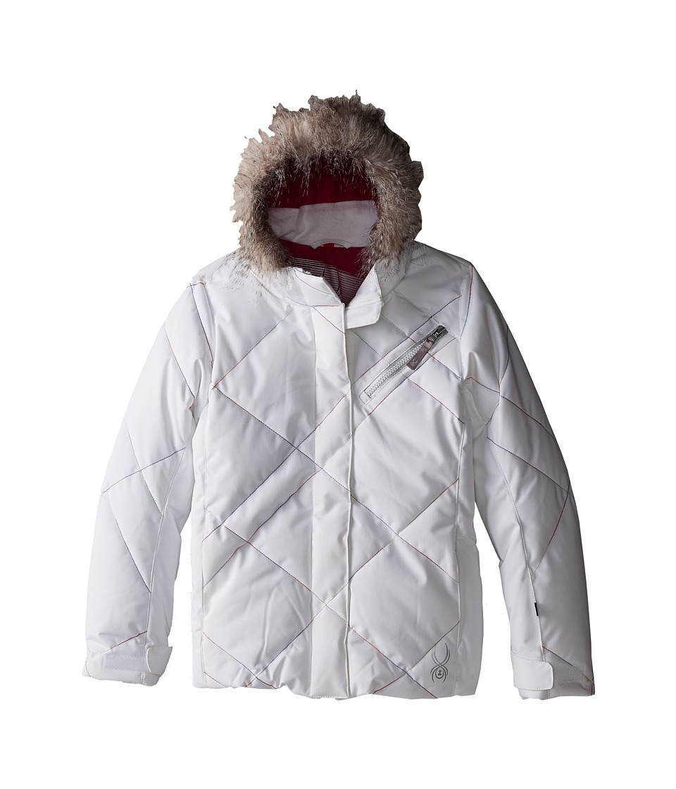 Spyder Kids - Hottie Jacket (Big Kids) (White/Multi-Loop) Girl's Coat