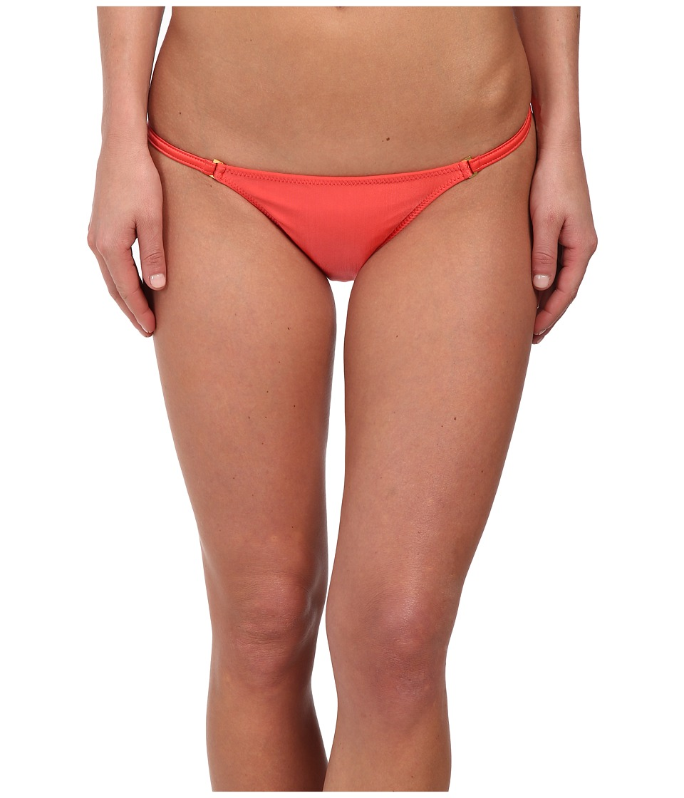 Vix - Solid Coral Red String Full Bottoms (Coral Red) Women's Swimwear