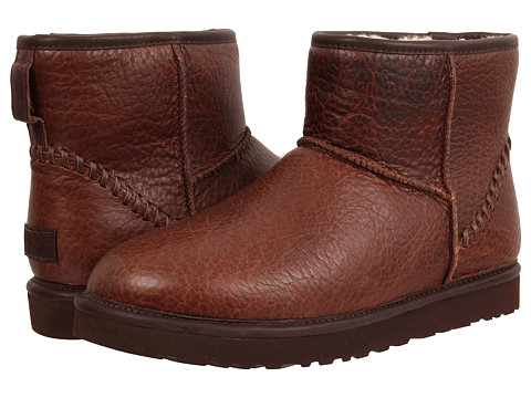 UGG - Classic Mini Deco (Stout Leather) Men's Boots